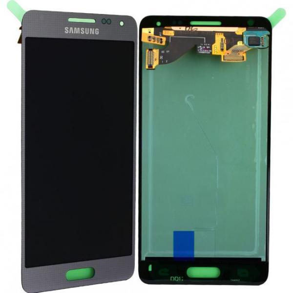 LCD Display Einheit inkl. Touchscreen für Samsung Galaxy Alpha G850F, silber, GH97-16386E