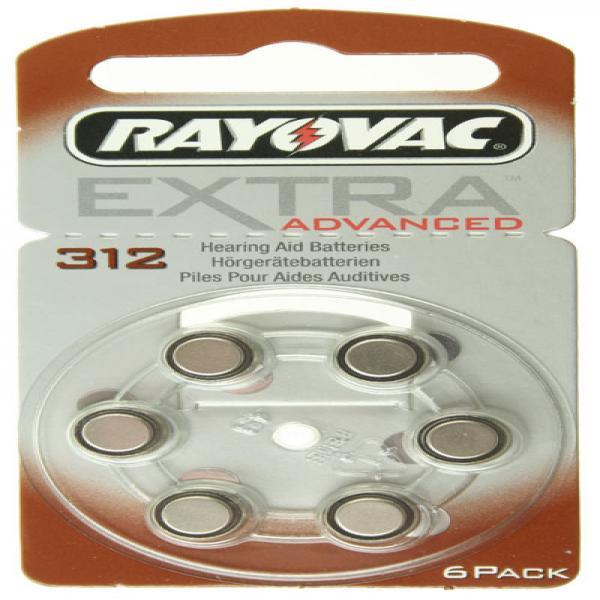 Hörgerät-Batterie R312AE Rayovac EXTRA ADVANCED, 6 Stück, R312, PR41, 312HPX, AC312, PR-312PA