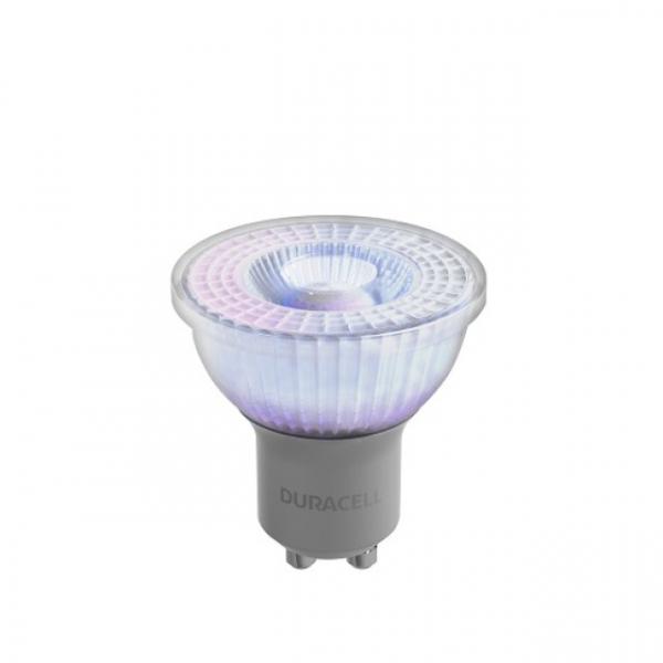 LED-Lampe Duracell Glas Spot GU10, 230V, 3.6W, A+, warmweiß 3000k, nicht dimmbar