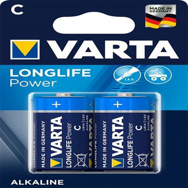 Batterie C Baby, VARTA LONGLIFE Power, Alkaline, 2 Stück, wie C, Baby, LR14