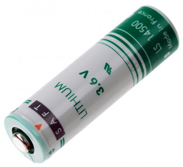 Lithium-Batterie AA Mignon, Saft CR14500, 3,6 Volt, 2.600 mAh, wie LR6, AA, Mignon, LR6EE, AM3