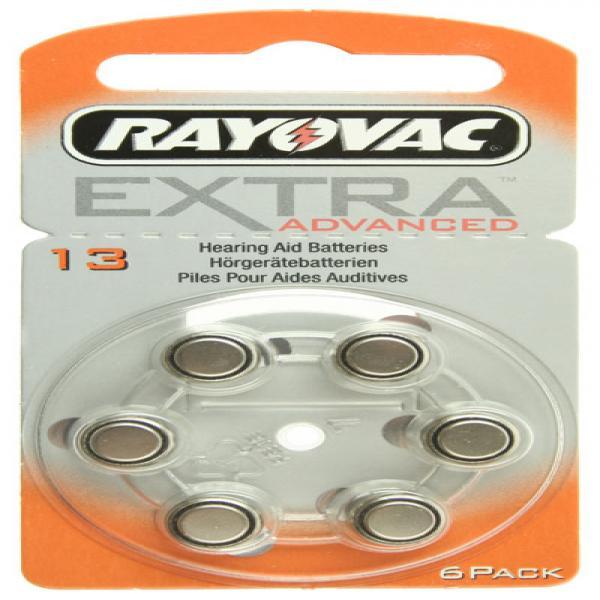 Hörgerät-Batterie R13AE Rayovac EXTRA ADVANCED, 6 Stück, R13, PR48, 13HPX, AC13, PR-13PA, PR13H