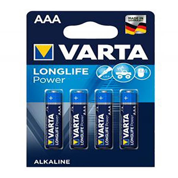Batterie AAA Micro 4 Stück VARTA LONGLIFE Power, wie LR03, AAA, Micro, LR03EE, AM4, Size S, 4003
