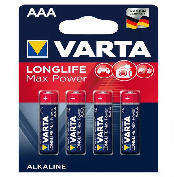 Batterien AAA Micro 4703, Varta LONGLIFE Max Power, LR03, AAA, Micro, LR03EE, AM4, Size S, 4003