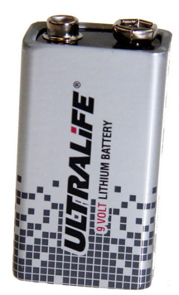 Lithium-Batterie UltraLife U9VL, 6AM6, 9 Volt, 1200 mAh, wie 6AM6, 9V E-Block, 6LR21, Size 9V, 4022