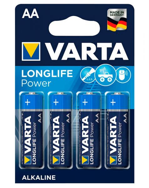Batterie AA Mignon 4 Stück VARTA LONGLIFE Power, wie LR6, AA, Mignon, LR6EE, AM3, Size M, 4006, 4106