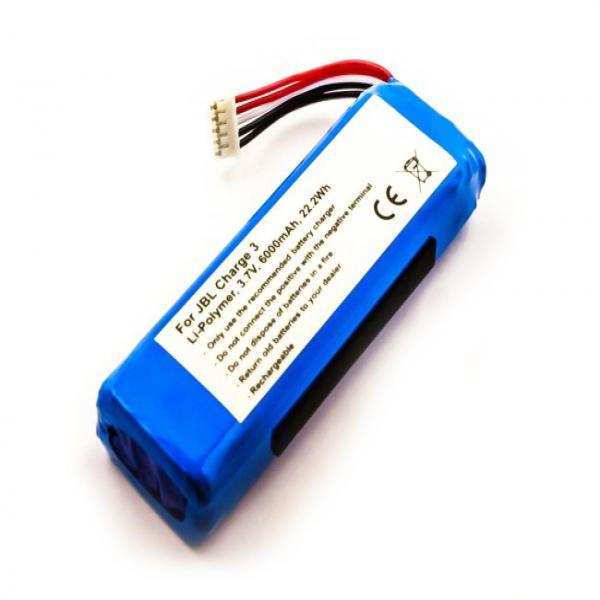 Akku für JBL Charge 2 Plus, Charge 3 Version 2015, wie GSP1029102A, 6000 mAh