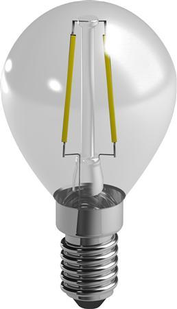 LED-Tropfenlampe (Faden) Duracell E14, 230V, 2.5W, A++, warmweiß 2700K, nicht dimmbar