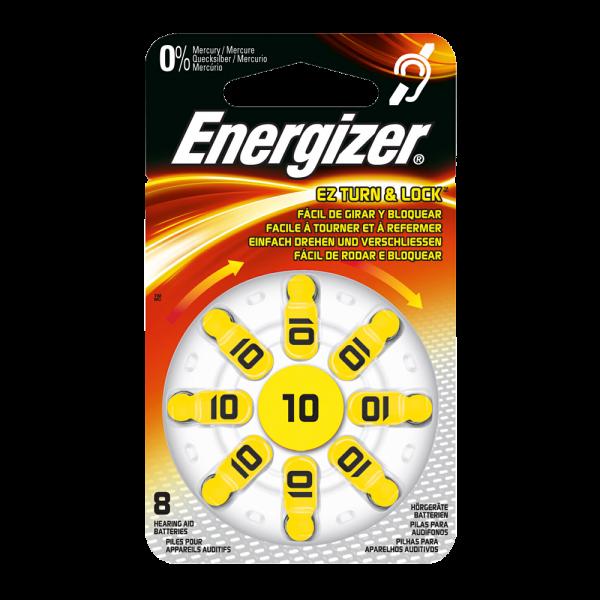 Hörgerätebatterien Energizer 10 AC10E ZINC-AIR, 8 Stück,wie RR10, PR70, 10HPX, AC230, PR-230PA