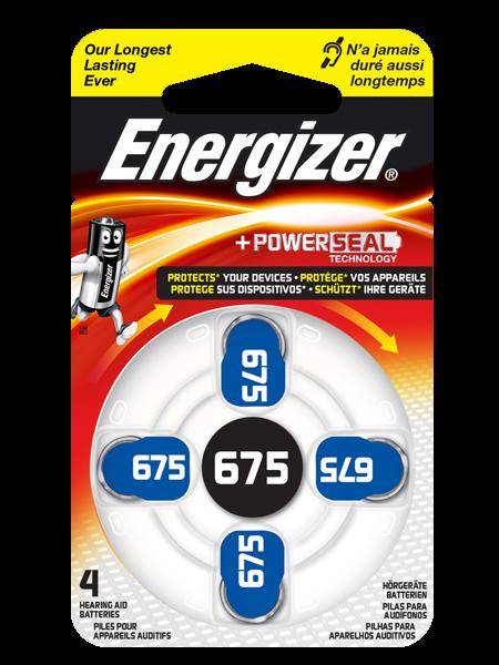 Hörgerätebatterien Energizer AC675, 4 Stück, 1.4V, wie 675, R675, R675AE, PR44, 665HPX, 675HPX