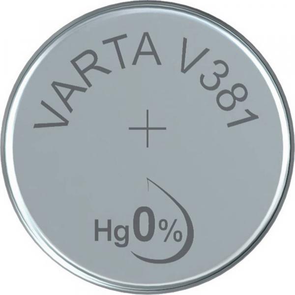 Varta Uhrenbatterie 381, wie V381, SR55, 45mAh, 1.55V