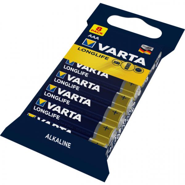 Batterie AAA Micro 4103 8er Folie VARTA LONGLIFE Power, wie LR03, AAA, Micro, 1100mAh, 1.5V, AlMn